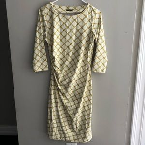 J. McLaughlin Sage Dress Trellis Print XS